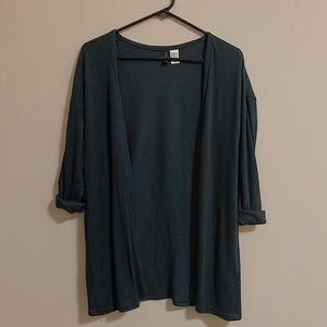 OPEN-FRONT RIBBED CARDIGAN | H&M DIVIDED